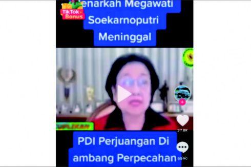 Tidak Benar, Video Viral Sebut Megawati Soekarnoputri Tutup Usia