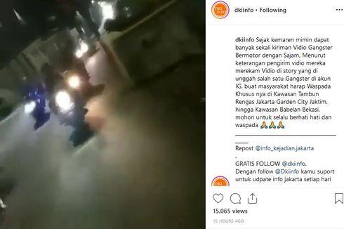 Video Viral Gangster Bersenjata di Cakung Direkam Anggotanya Sendiri