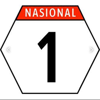 Plang jalan nasional
