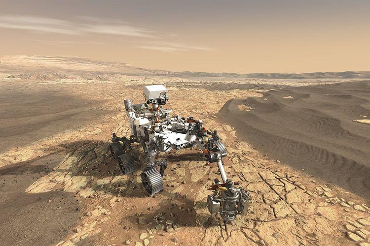 Ilustrasi Mars 2020 yang akan diberangkatkan ke Mars pertengahan tahun 2020.