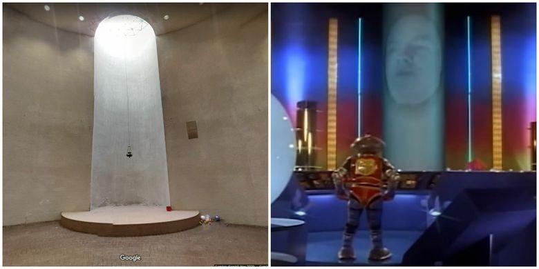 Bagian interior House of Book yang mungkin dipakai oleh Zordon untuk memerintah Power Rangers.