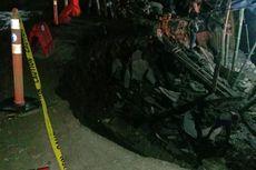 Jalan Nyaris Putus akibat Tergerus Air, Akses Malang-Kediri Ditutup