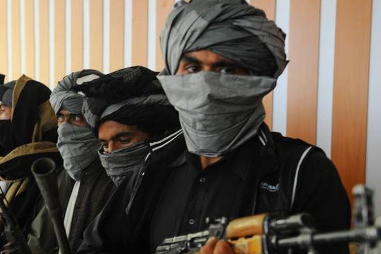 Ilustrasi milisi Taliban.