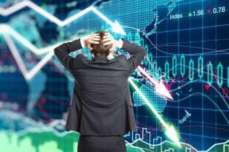 Ilustrasi bursa melemah
