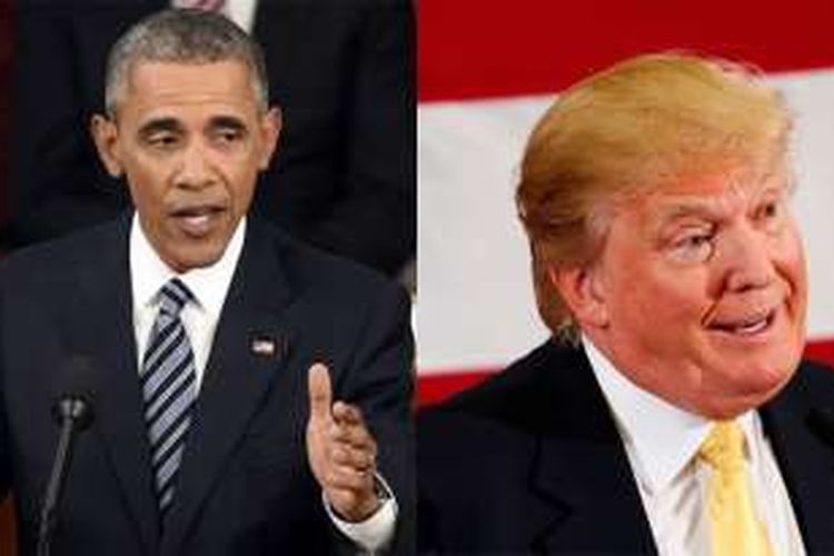 Barack Obama dan Donald Trump