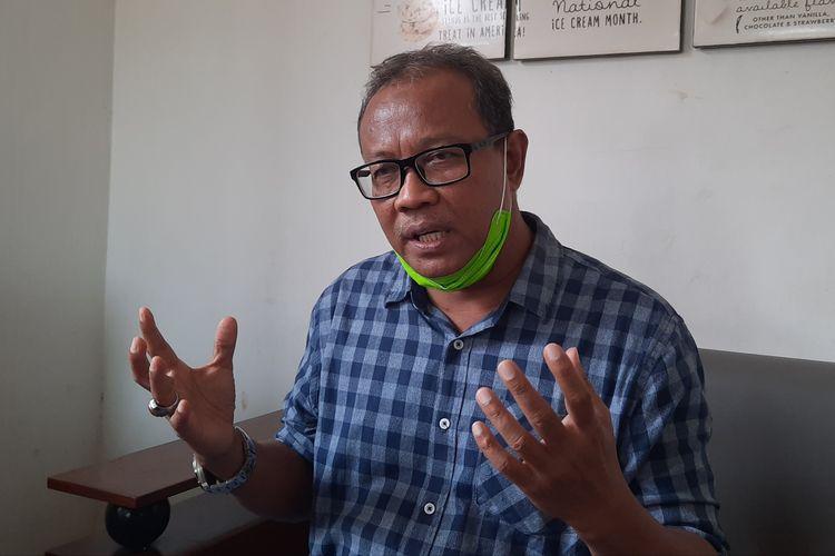 Ketua DPC Partai Demokrat Kabupaten Blora, Bambang Susilo angkat bicara soal pencopotannya sebagai ketua DPC, ditemui di Blora, Kamis (18/2/2021)