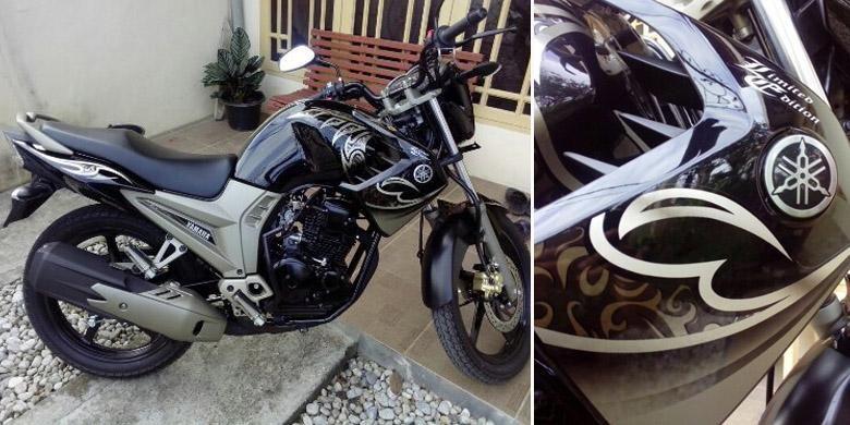 Yamaha Scorpio Z yang disinyalir sebagai Black Gold Limited Edition.