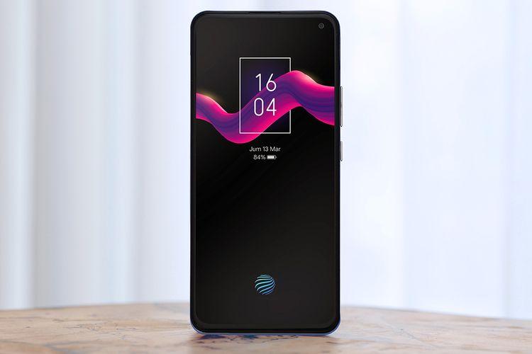 Layar Super AMOLED Vivo V19 turut dibekali pemindai sidik jari Screen Touch ID