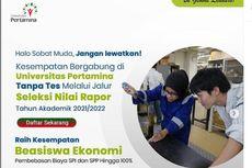 Universitas Pertamina Buka Seleksi S1 Jalur Rapor dan Kesempatan Beasiswa
