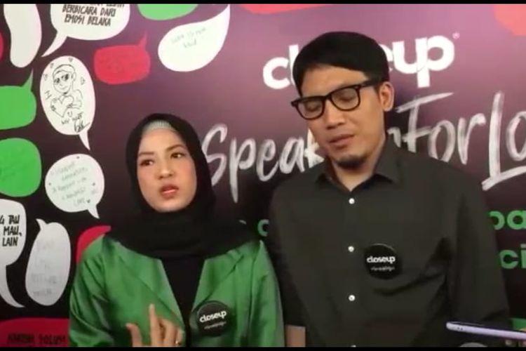 Desta dan Natasha Rizky saat ditemui di kawasan Kemang, Jakarta Selatan, Kamis (5/3/2020).