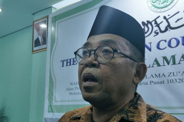 Jubir Wapres RI Masduki Baidlowi ketika ditemui di Kantor MUI Jakarta.