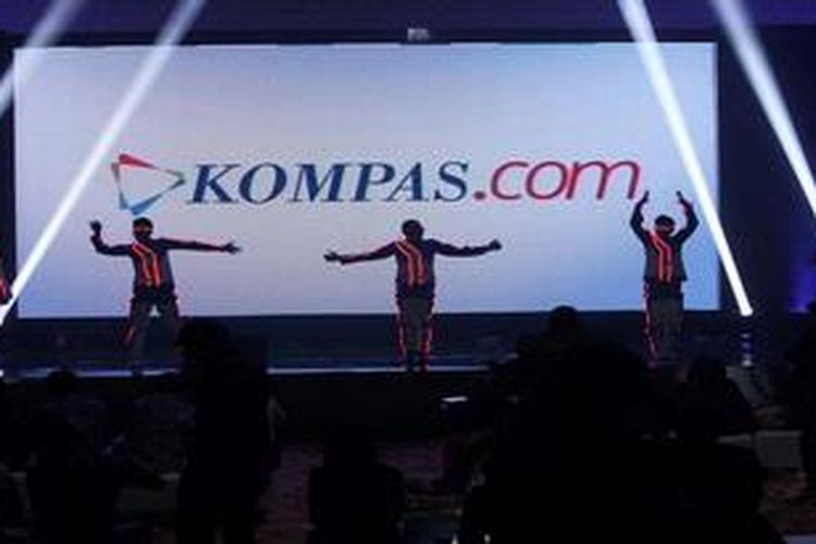 Peluncuran logo baru portal Kompas.com di Jakarta, Rabu (29/5/2013). Peluncuran tersebut juga bersamaan dengan ulang tahun ke-5 Kompas.com. Selain logo, Kompas.com juga bertranformasi dengan kepemilikan, slogan, tampilan, dan fitur baru.