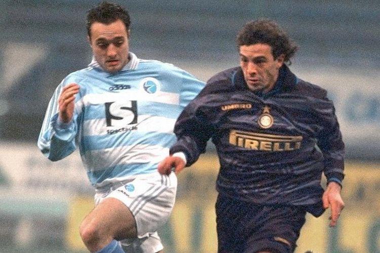 Luigi Sartor sewaktu masih berseragam Inter Milan pada medio 1997-1998