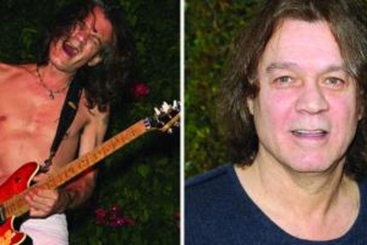 (Kiri) Eddie Van Halen saat tampil dalam salah satu acara musik di California 19 Juli 2006. (Kanan) Eddie Van Halen saat menghadiri sebuah acara di California 10 Maret 2013.