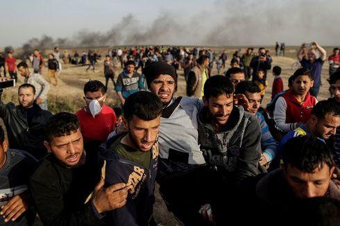 Halau Protes Warga Palestina, Israel Diklaim Pakai Gas Tak Dikenal