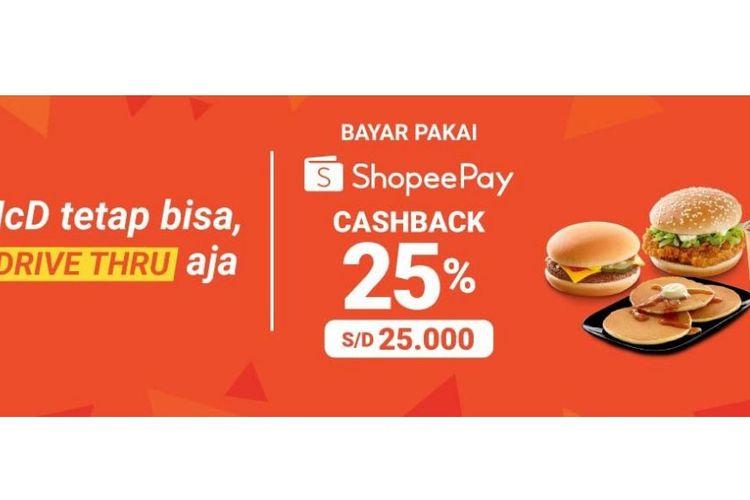 Promo cashback McD dari ShopeePay
