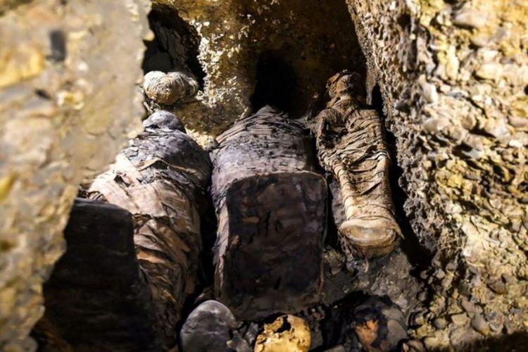 Lebih dari 40 mumi ditemukan di Mesir, diperkirakan usianya lebih dari 2.000 tahun.