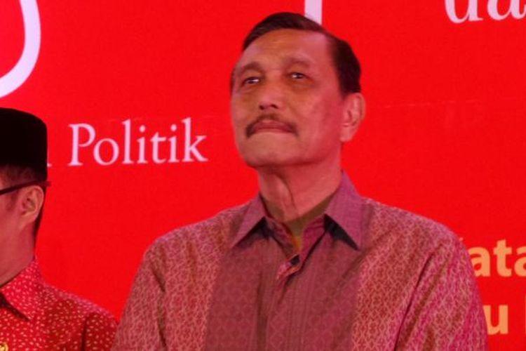 Menko Kemaritiman Luhut Binsar Pandjaitan di Hotel Sahid Jakarta, Minggu (5/2/2017).