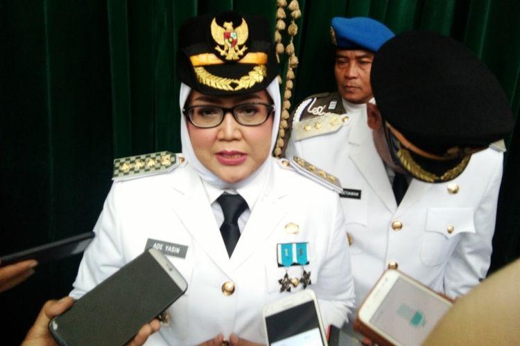 Bupati Bogor Ade Yasin saat ditemui usai pelantikan di Gedung Sate, Jalan Diponegoro, Minggu (30/12/2018).