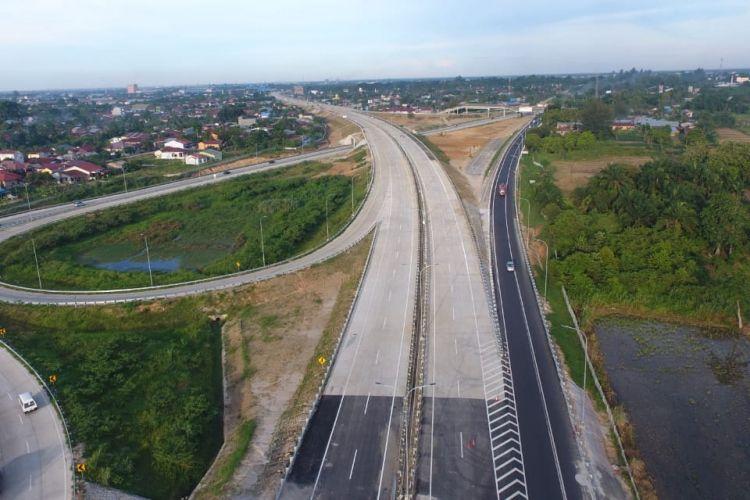 Ilustrasi proyek infrastruktur jalan tol