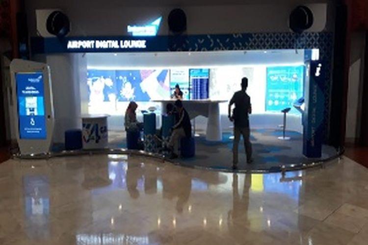 Digital Lounge yang ada di Terminal 2 Bandara Soekarno-Hatta.