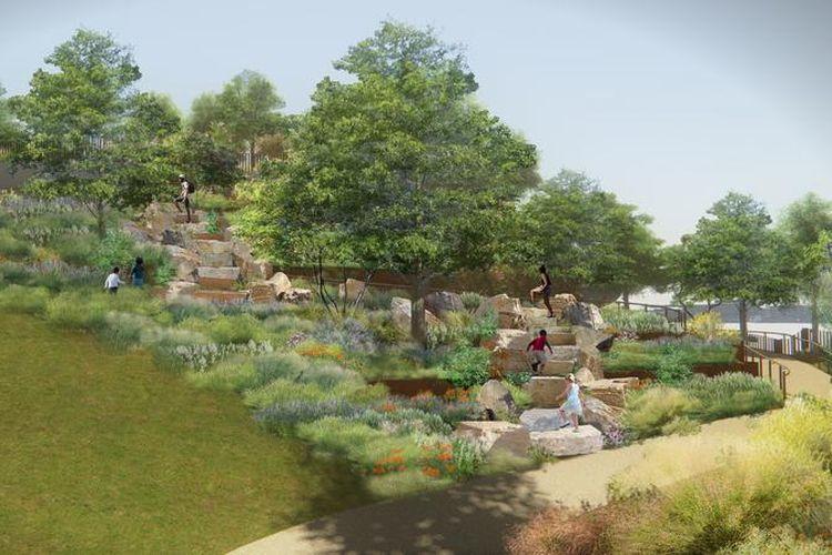 Ratusan jenis tanaman dan bunga menghiasai taman ini.
