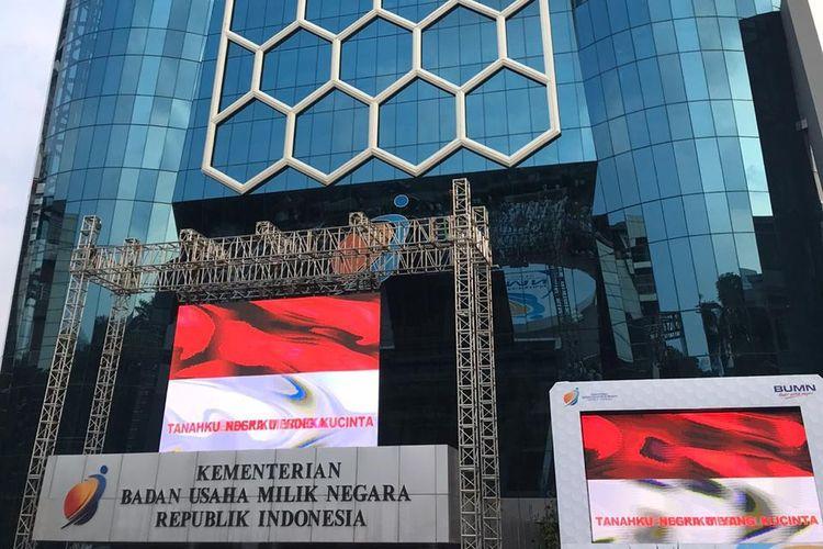 Gedung Kementerian BUMN di Jalan Medan Merdeka Selatan, Jakarta Pusat.