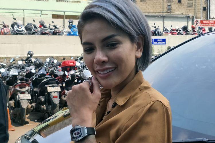 Nikita Mirzani saat ditemui di kawasan Tendean, Jakarta Selatan, Rabu (12/2/2020).