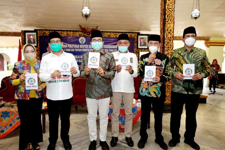 Acara Konsultasi Publik Rancangan Peraturan Pemerintah (PP) tentang Badan Usaha Milih Desa (Bumdes) di Pendopo Kabupaten Sumenep, Sabtu (28/11/2020).
