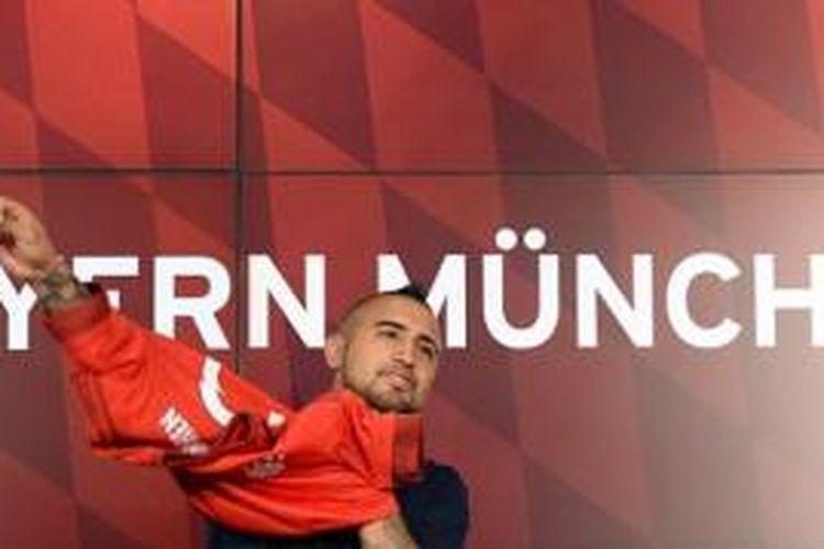 Gelandang Bayern Muenchen, Arturo Vidal.