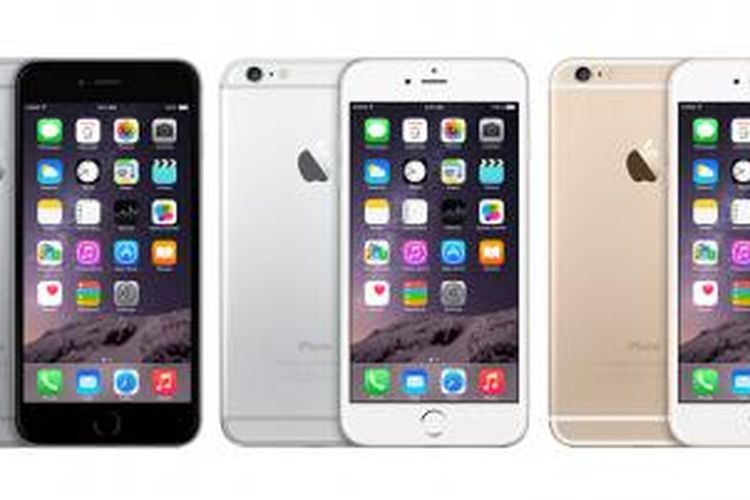Tiga pilihan warna iPhone 6