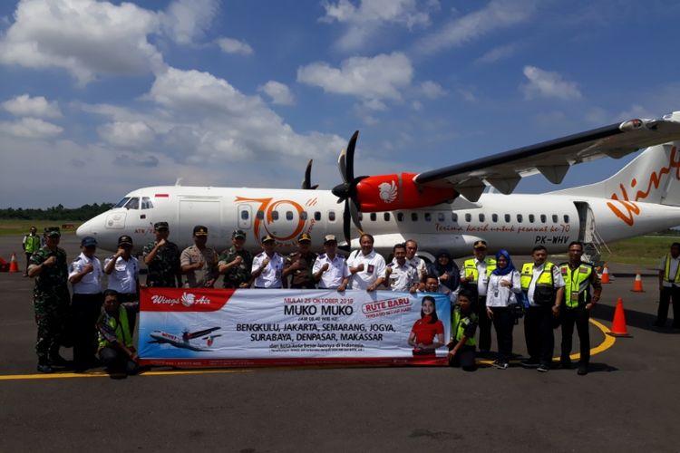 Wings Air buka rute Bengkulu-Mukomuko, Kamis (25/10/2018).