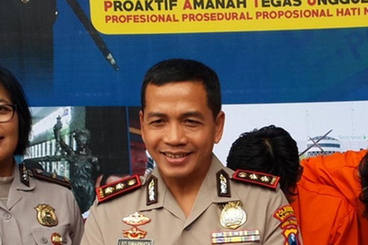Kapolresta Malang Kota, AKBP Leonardus Simarmata saat merilis pelaku curat di Mapolresta Malang Kota, Selasa (10/12/2019).