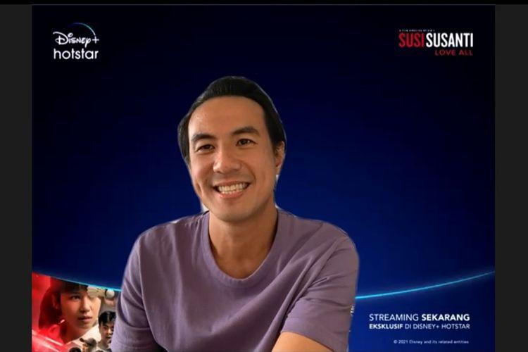 Daniel Mananta di webinar Roundtable Susi Susanti: Love All, Selasa (5/1/2021).