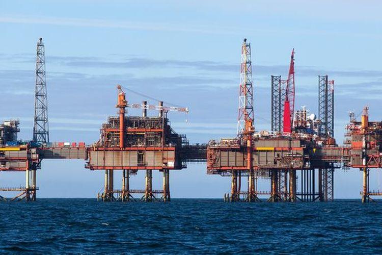 Ilustrasi kegiatan industri hulu minyak dan gas bumi