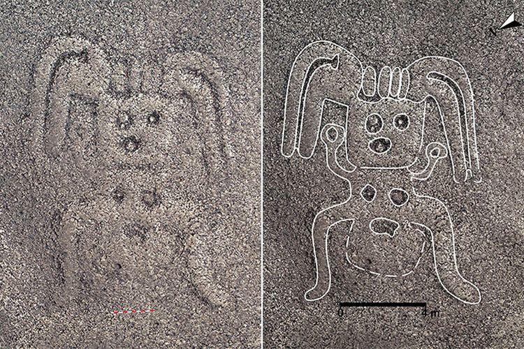 Garis Nazca di Peru yang berbentuk menyerupai manusia