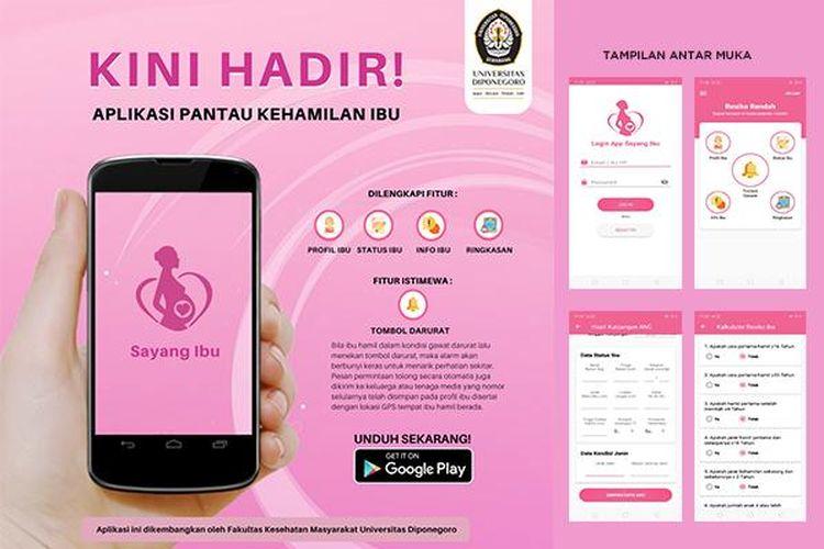 Aplikasi Sayang Ibu karya FKM Undip.