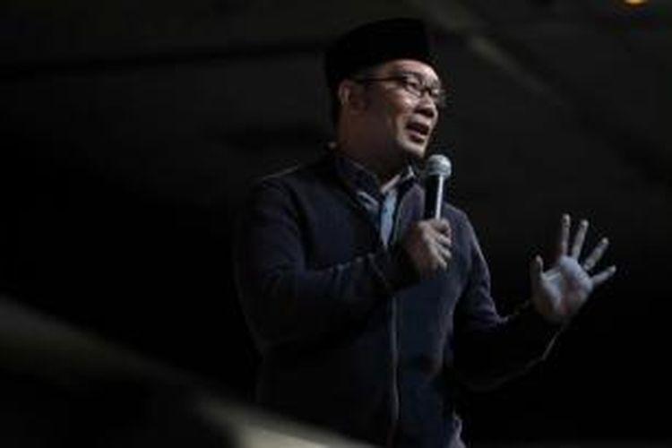 Wali Kota Bandung, Ridwan Kamil, menjadi pembicara dalam acara Kompasianival 2014 di Gedung Sasono, Taman Mini Indonesia Indah, Jakarta Timur, Sabtu (22/11/2014).