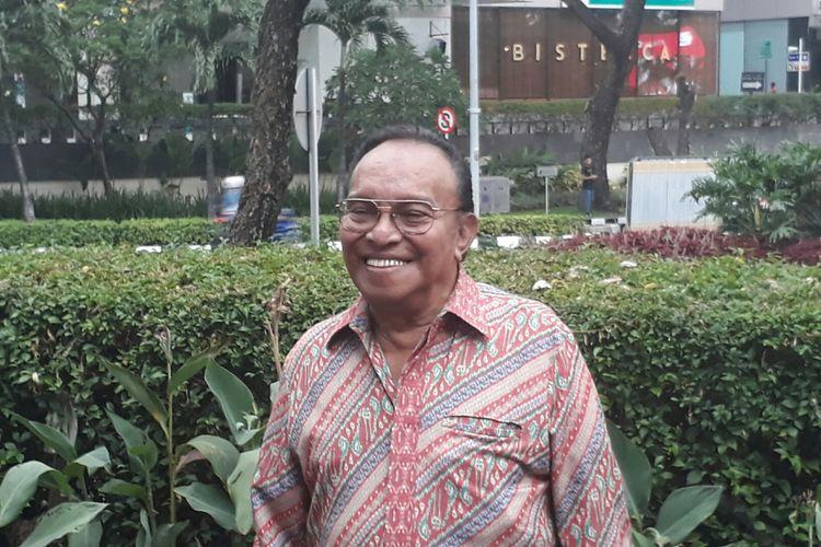 Bob Tutupoly ketika ditemui wartawan di Beer Garden, SCBD Senayan, Jakarta Selatan, Rabu (20/9/2017).