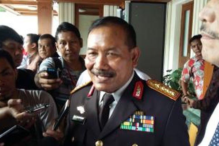 Kepala Polri Jenderal Badrodin Haiti saat ditemui di Kantor Menko Polhukam, Jakarta Pusat, Rabu (23/12/2015).