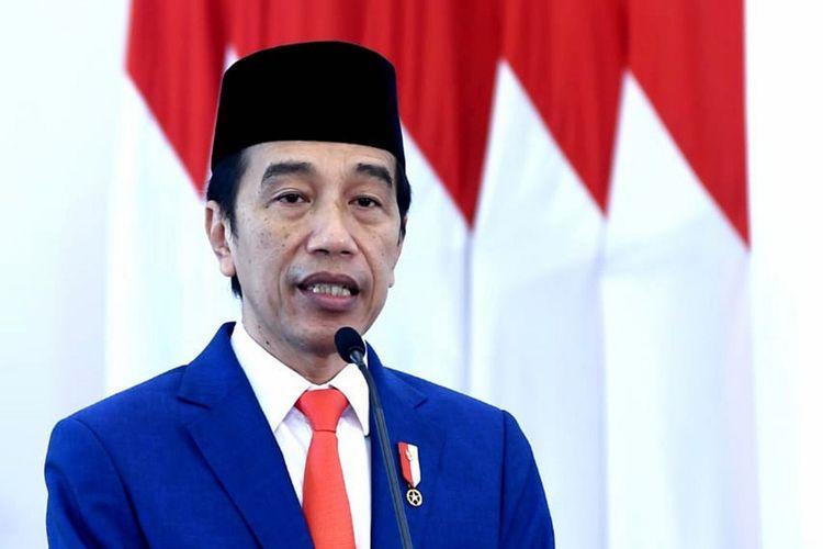 Presiden Joko Widodo memberikan amanat saat memimpin upacara peringatan Hari Lahir Pancasila secara virtual di Istana Bogor, Jawa Barat, Senin (1/6/2020). Upacara secara virtual itu dilakukan karena pandemi COVID-19. ANTARA FOTO/BPMI Setpres/Handout/wsj.