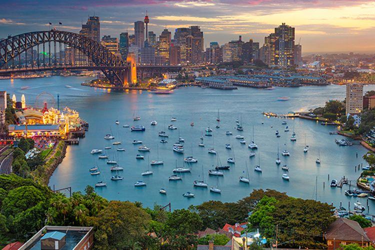 Suasana Sydney dan kehangatan mataharinya saat senja. (Michal Ziarno/Shutterstock.com)