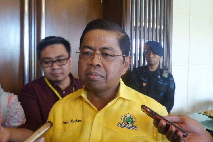 Sekretaris Jenderal Partai Golkar Idrus Marham di Rapimnas Partai Golkar, Balikpapan, Senin (21/5/2017).