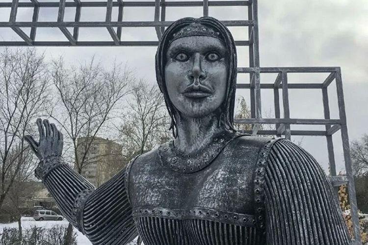 Patung Alyonka dari kota Novovoronezh, Rusia.