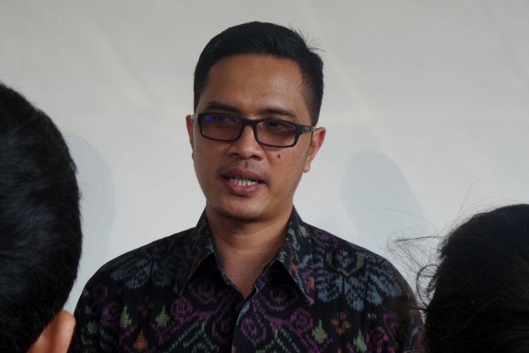 Juru Bicara KPK Febri Diansyah di Pengadilan Tipikor Jakarta, Senin (10/7/2017).