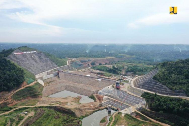 Bendungan Margatiga di Kabupaten Lampung Timur, Provinsi Lampung.