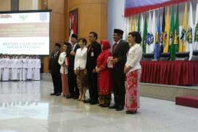 Acara peresmian dan serah terima nota pengantar tugas Pelaksana Tugas (Plt) Gubernur DKI Jakartadi Gedung Kemendagri, Rabu (26/10/2016) siang.