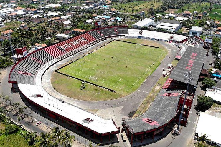 Foto udara Stadion Kapten I Wayan Dipta di Gianyar, Bali, Jumat (25/10/2019). Stadion Kapten I Wayan Dipta merupakan salah satu dari 10 stadion di Indonesia yang disiapkan menjadi lokasi penyelenggaraan Piala Dunia U-20 tahun 2021.