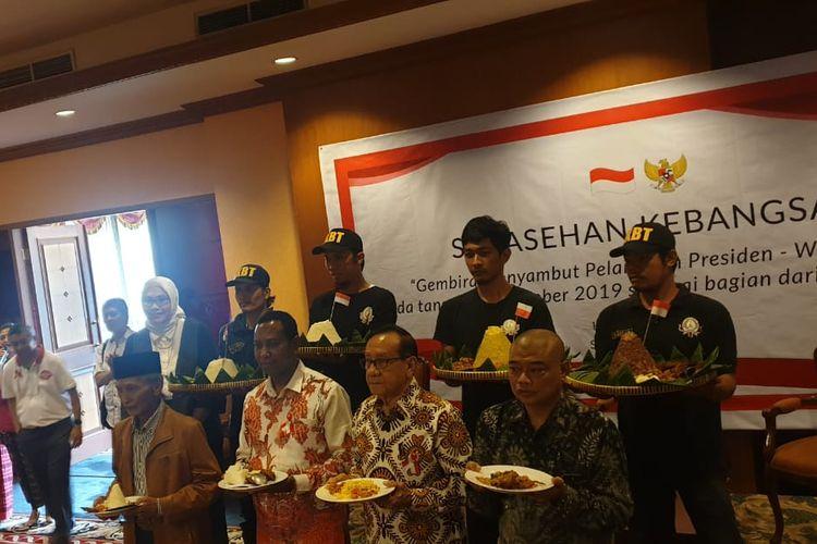 Romo Benny Susetyo (depan kanan) saat menjadi narasumber dalam acara saresehan kebangsaan di Jakarta Selatan, Selasa (15/10/2019).