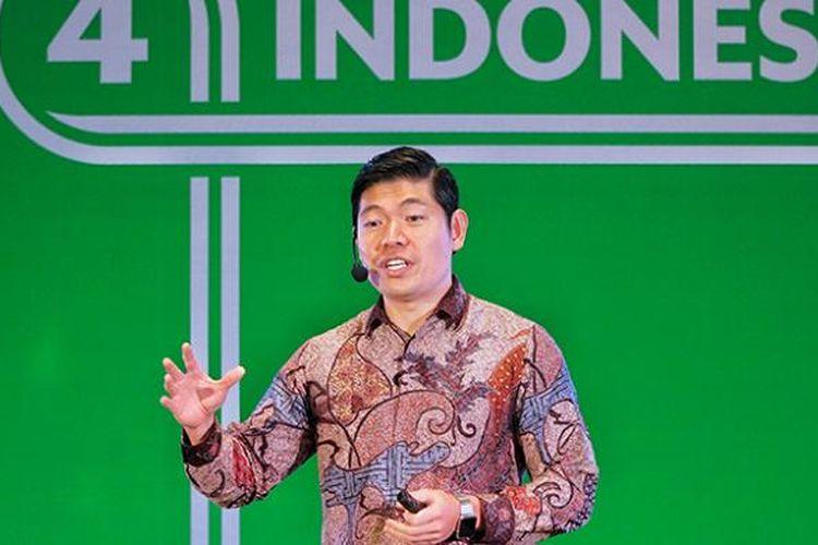 CEO Grab, Anthony Tan saat pengumuman komitmen investasi Grab di Jakarta, Kamis (2/2/2017).